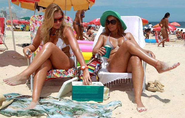 Isopor na praia