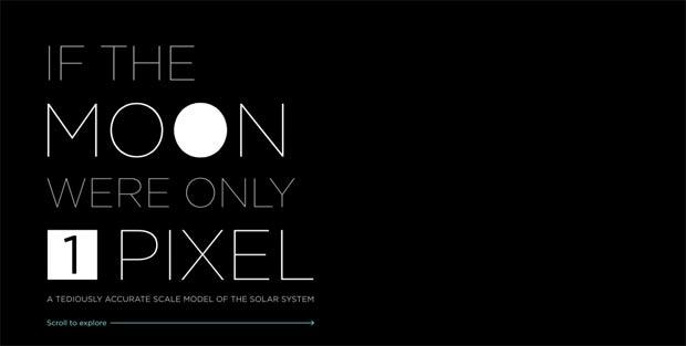 Lua em 1 pixel