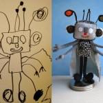 Pai transforma desenhos do filho em bichinhos de pelúcia