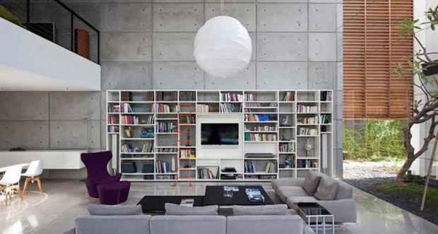 Que tal deixar o concreto aparente tudo para homens for Como e living room em portugues