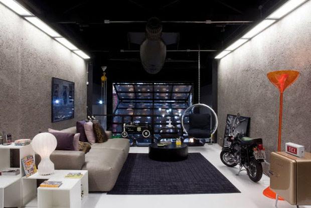 concreto-aparente-decoração-sala-de-estar