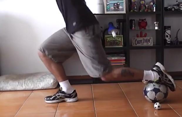 Treinos com bola de futebol