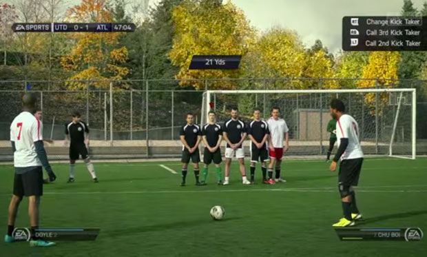 Confira uma partida de FIFA com jogadores reais