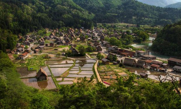 Shirakawa-go-Village-Japão