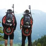 Uma mochila que se transforma em bicicleta