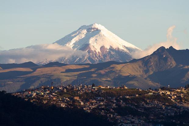 O vulcão Cotopaxi.