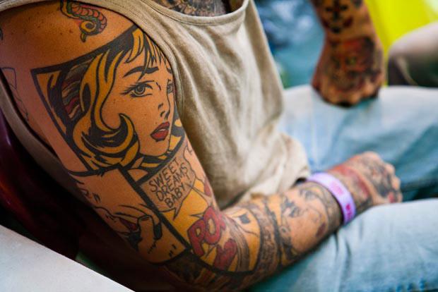 tatuagem quadrinhos
