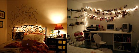 decoracao alternativa de casas : decoracao alternativa de casas:Decoração: Iluminação com pisca-pisca