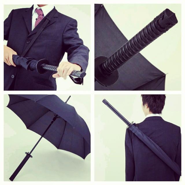 Guarda-chuva samurai.