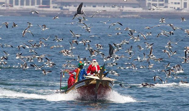 Pescadores fantasiados