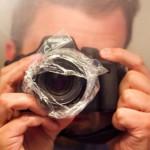 Estilizando fotos com um plástico para sanduíche