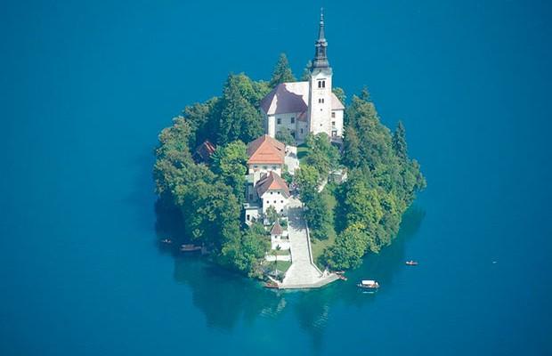 Uma Ilha Privada na Eslovênia