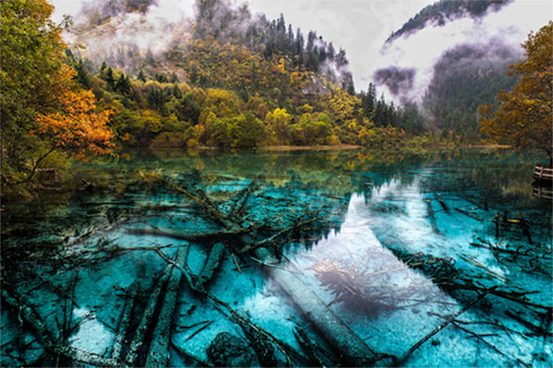Lago no Jiuzhaigou National Park