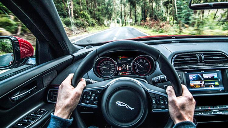 Dirigindo Jaguar