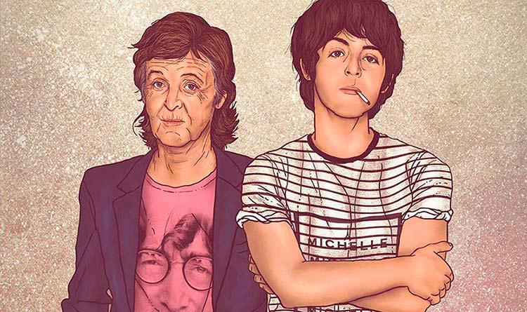Artista retrata o antes & depois de algumas personalidades