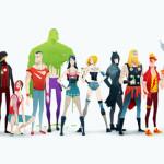 Super-heróis Rockstars
