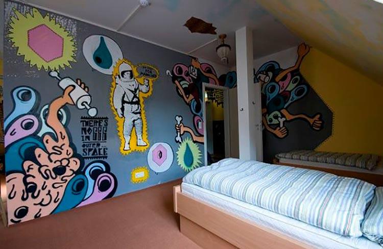 Decoração-de-Quarto-com-Grafite