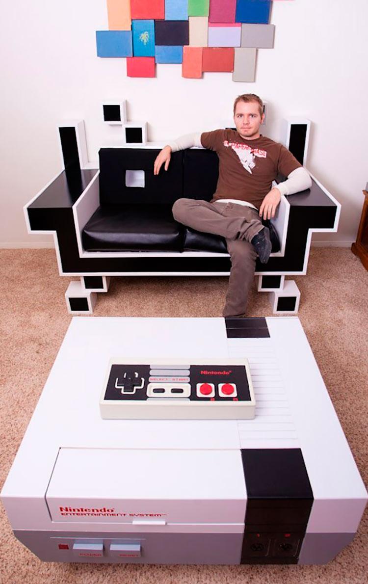 Decora o geek tudo para homens for Geek living room ideas