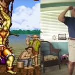 Rapaz grava seu pai imitando as poses de vitória de Street Fighter II Turbo