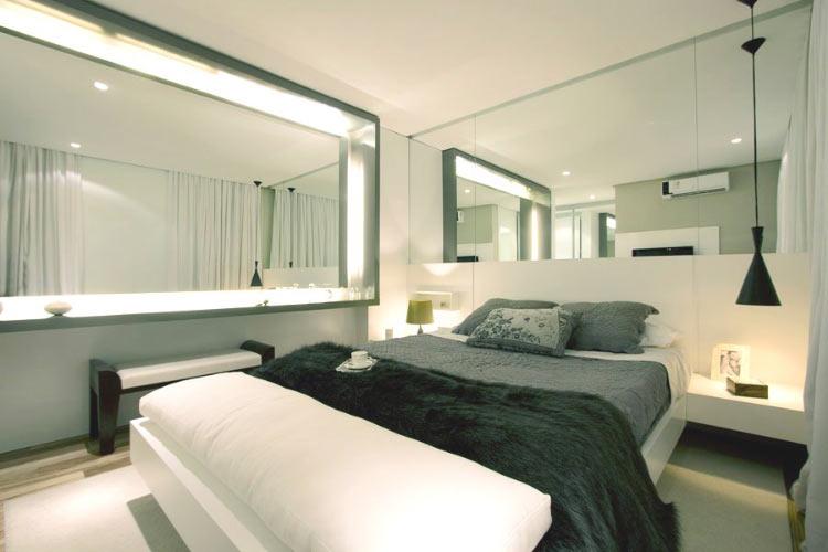 decoracao-quarto-espelhos-luzes