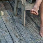 man-feet