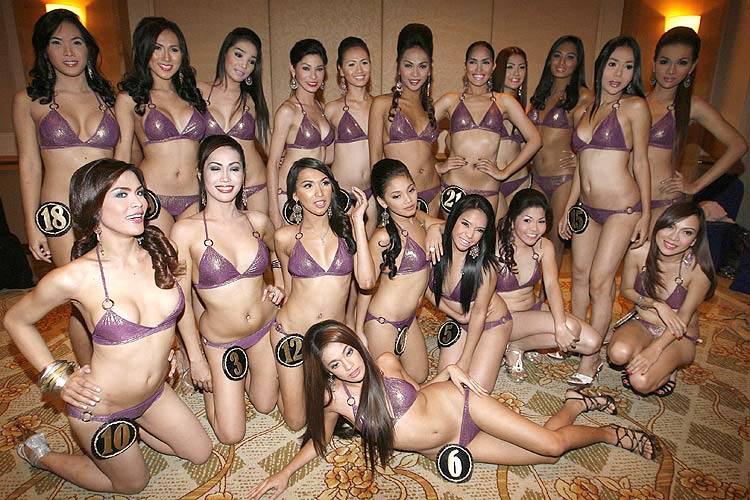 Candidatas do Concurso Mundial de Beleza de Travestis e Transexuais.