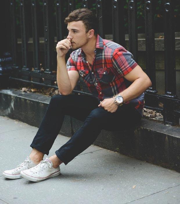 look-verao-camisa-xadrez