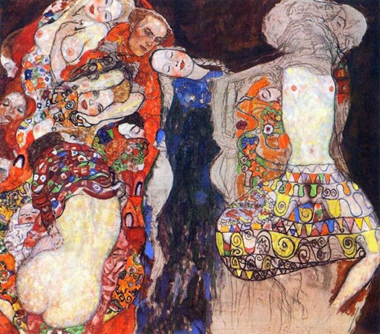 Gustav-Klimt-The-Bride-1918