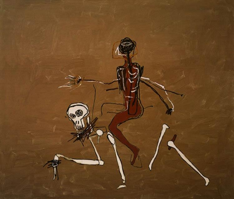 Jean-Michel-Basquiat-Montando-com-a-Morte
