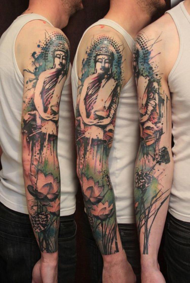 tatuagem-aquarela-buda