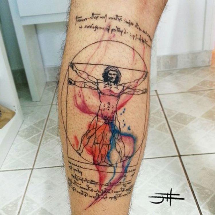 tatuagem-aquarela-davinci