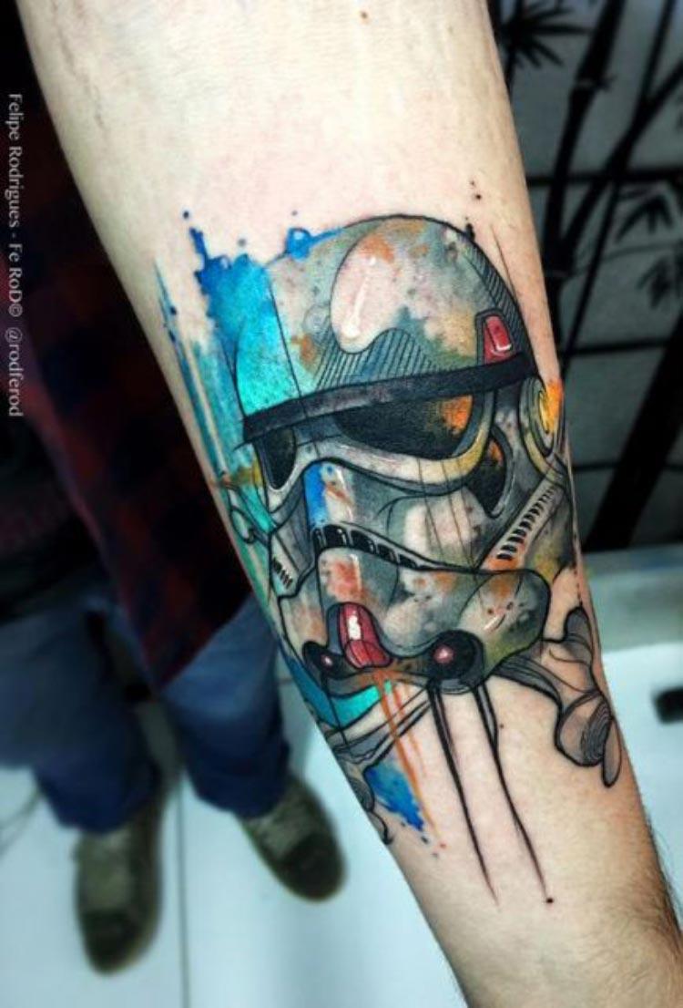 tatuagem-stormtrooper-aquarela