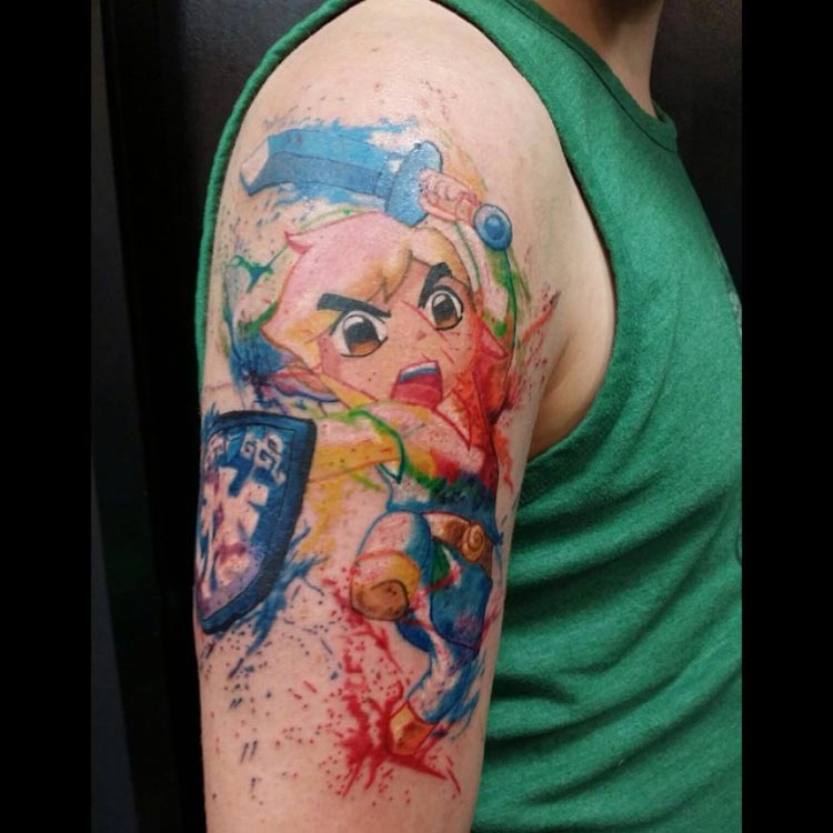 tatuagem-zelda-aquerela