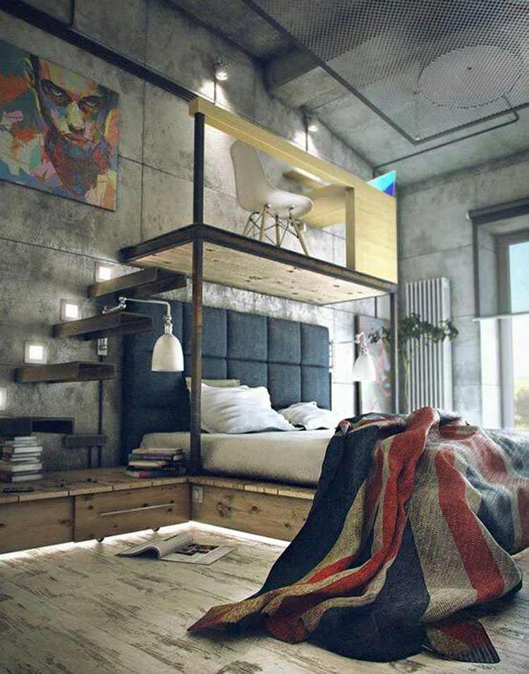 quarto-tendencia-decoracao-industrial