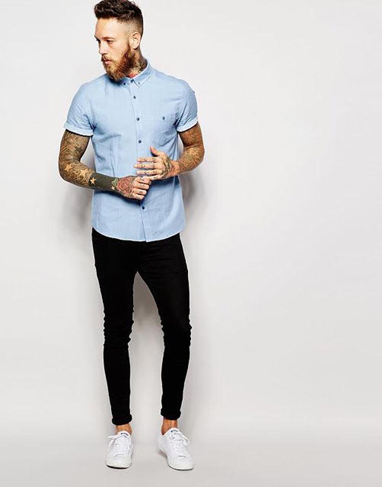 look-camisa-manga-curta