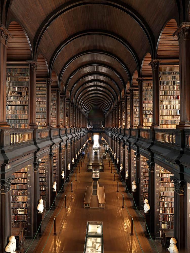 Biblioteca-da-faculdade-Trinity